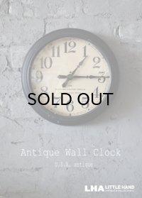 U.S.A. antiqueThe Standard Electric time co. wall clock アメリカアンティーク 掛け時計 スクール クロック 26.5cm 1930's インダストリアル 工業系
