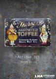 画像1: ENGLAND antique イギリスアンティーク Thorne's TOFFEE ティン缶 トフィ缶 ヴィンテージ ブリキ缶1940-50's  (1)