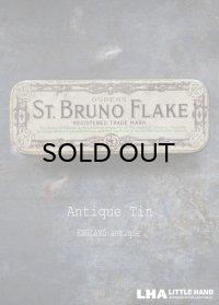 ENGLAND antique イギリスアンティーク OGDEN'S ST.BRUNO FLAKE ティン缶 タバコ缶 ヴィンテージ ブリキ缶1910-30's