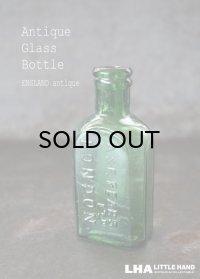 ENGLAND antique イギリスアンティーク A&F LONDON ガラスボトル H10.5cm ガラス瓶 1890-1910's