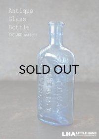 ENGLAND antique イギリスアンティーク WOODWARD ガラスボトル H15.5cm ガラス瓶 1890-1910's