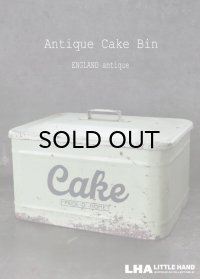 【RARE】ENGLAND antique HOMEPRIDE CAKE ホームプライド ケーキ缶 スローガン入り 1922-23's