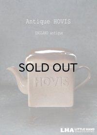 【RARE】ENGLAND antique イギリスアンティーク HOVIS 陶器製 ティーポット TEA POT ヴィンテージ 1970-80's