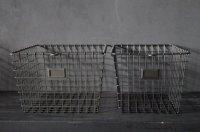 【再入荷】WEB限定【5%OFF】U.S.A. STORAGE BASKET アメリカ メタルバスケット・ワイヤバスケット 【METALLIC GRAY】[Sサイズ・Mサイズ]