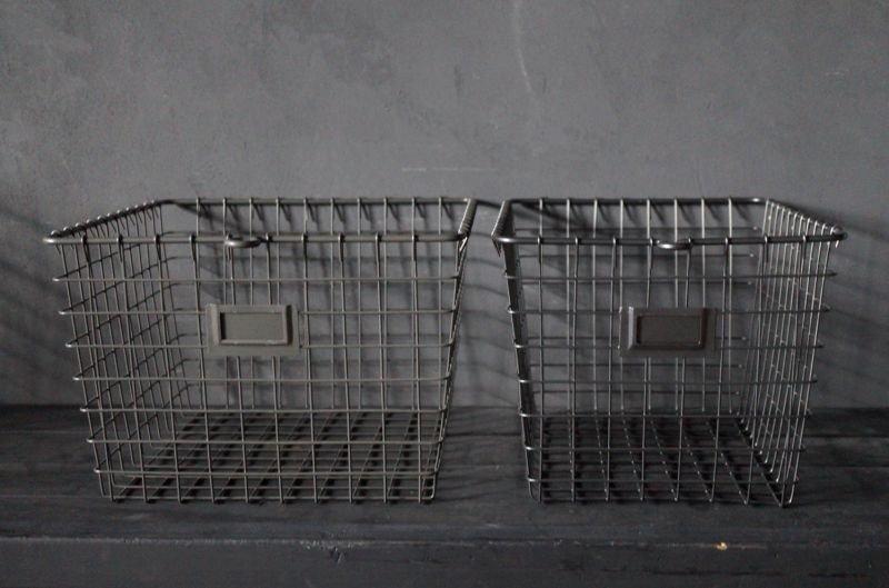 画像1: 【再入荷】WEB限定【5%OFF】U.S.A. STORAGE BASKET アメリカ メタルバスケット・ワイヤバスケット 【METALLIC GRAY】[Sサイズ・Mサイズ]