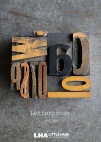U.S.A. antique アンティーク木製プリンターブロック【10個】 H5cm〜H3.4cm スタンプ はんこ 1930-60's