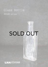 ENGLAND antique イギリスアンティーク ガラスボトル H13.6cm ガラス瓶 1890-1910's