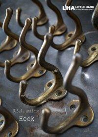 USA antique アメリカアンティーク アイアン フック (S) コートフック 鉄 1930-50's ヴィンテージ