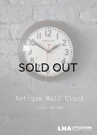 U.S.A. antique GIBRALTAR wall clock  アメリカアンティーク ジブラルタル 掛け時計 ヴィンテージ スクール クロック 26.5cm 1961's