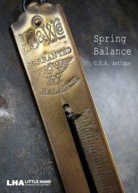 U.S.A.  antique アメリカアンティーク WARRANTED スプリングバランス ポケットバランス ハンキング スケール  はかり  1920-40's