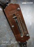 画像1: GERMANY antique ドイツアンティーク 小さなポケットバランス  スプリングバランス ハンキング スケール  はかり  1920-40's  (1)