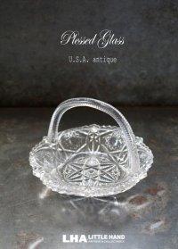 U.S.A. antique アメリカアンティーク プレスドグラス ガラス ヴィンテージ 1940-50's