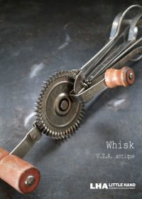 U.S.A. antique アメリカアンティーク LADD whisk ウィスク 泡だて器 ヴィンテージ 1940-60's