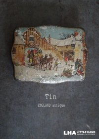 ENGLAND antique イギリスアンティーク TOFFEE ティン缶 お菓子缶 ブリキ缶 ヴィンテージ 缶 1870-1920's