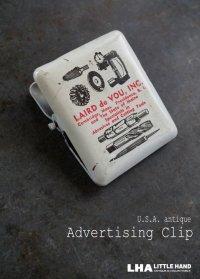 USA antique アメリカアンティーク PAPER CLIP アドバタイジング ペーパークリップ 広告入り ヴィンテージ クリップ1950-60's