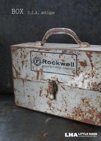 USA antique  アメリカアンティーク ROCKWELL ツールボックス BOX ヴィンテージ 1920-50's