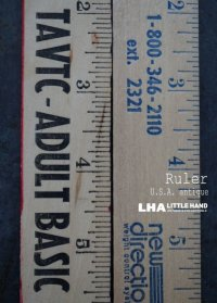USA antique ADVERTISING RULER アドバタイジング 木製ルーラー 広告入り 定規 2本セット ヴィンテージ 1970-90's