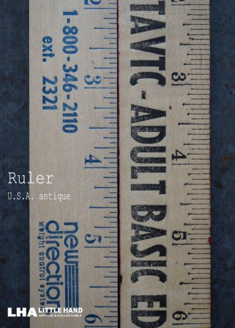 画像1: USA antique ADVERTISING RULER アドバタイジング 木製ルーラー 広告入り 定規 2本セット ヴィンテージ 1970-90's