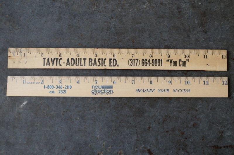 画像2: USA antique ADVERTISING RULER アドバタイジング 木製ルーラー 広告入り 定規 2本セット ヴィンテージ 1970-90's