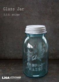 USA antique アメリカアンティーク BALL ジャー ガラスジャー (M) メイソンジャー保存瓶 ヴィンテージ ガラス瓶 1923-33's