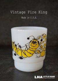 U.S.A. vintage アメリカヴィンテージ 【Fire-king】ファイヤーキング ヒルディ キャタピラー マグ マグカップ 1960-76's