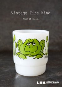 U.S.A. vintage アメリカヴィンテージ 【Fire-king】ファイヤーキング ヒルディ フロッグ マグ マグカップ 1960-76's