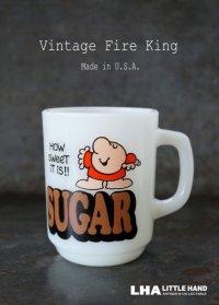 U.S.A. vintage アメリカヴィンテージ 【Fire-king】ファイヤーキング ジギー SUGAR マグ マグカップ 1977-86's