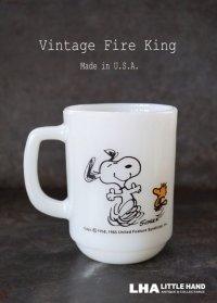 U.S.A. vintage アメリカヴィンテージ 【Fire-king】ファイヤーキング スヌーピー ジョイ マグ マグカップ 1960-76's