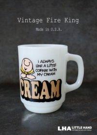 U.S.A. vintage アメリカヴィンテージ 【Fire-king】ファイヤーキング ジギー CREAM マグ マグカップ 1977-86's