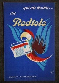 FRANCE antique フランスアンティーク  BUVARD ビュバー Radiola  ヴィンテージ 1950-70's