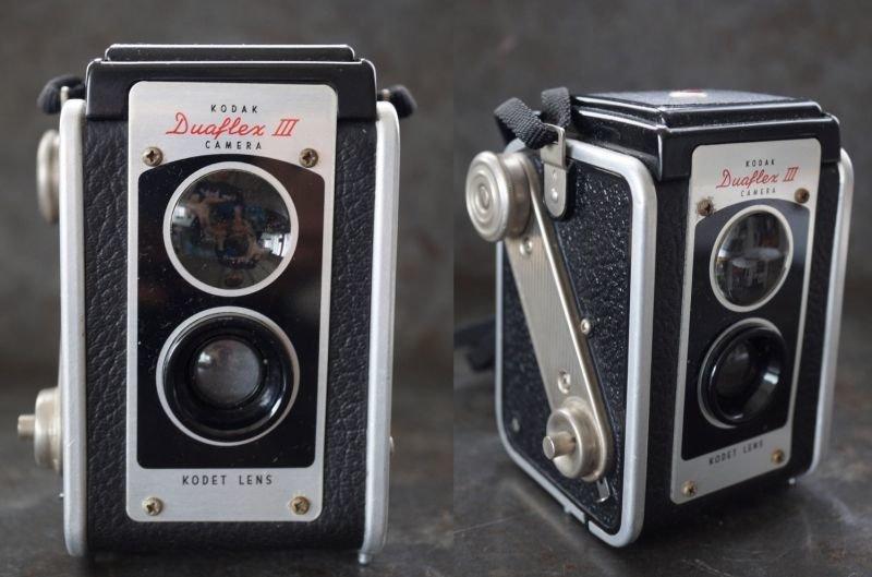 画像2: ENGLAND antique イギリスアンティーク KODAK DUAFLEX III コダック 二眼レフカメラ ヴィンテージ 1950's