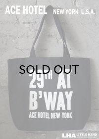 【アメリカ直輸入・日本未発売】NY【ACE HOTEL】TOTE BAG エースホテル ニューヨーク トートバッグ