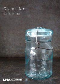 USA antique アメリカアンティーク ATLAS ジャー ワイヤー付き ガラスジャー (S) メイソンジャー保存瓶 ヴィンテージ ガラス瓶 1920-50's