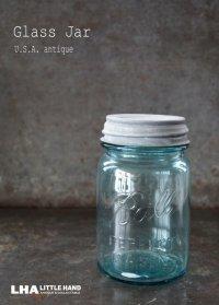 USA antique アメリカアンティーク BALL ジャー ガラスジャー (S) メイソンジャー保存瓶 ヴィンテージ ガラス瓶 1923-33's