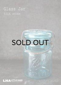 USA antique アメリカアンティーク BALL ジャー ワイヤー付き ガラスジャー (S) ヴィンテージ メイソンジャー 保存瓶 1910-23's