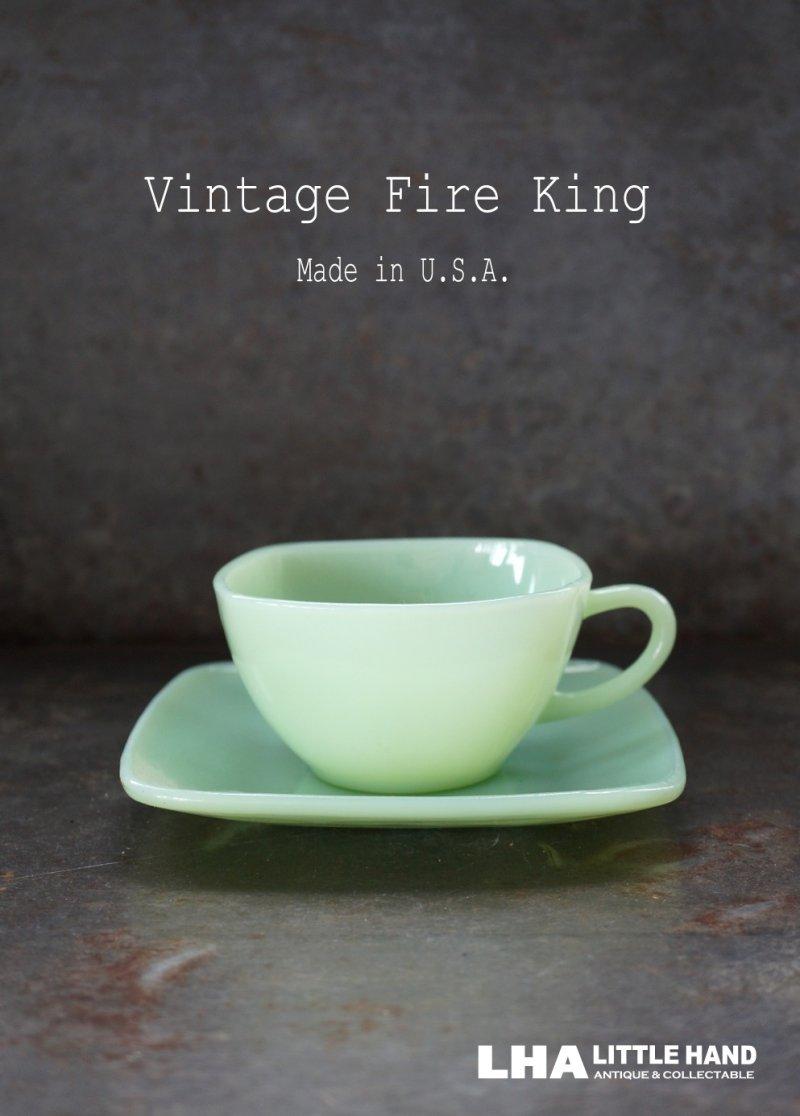 画像1: U.S.A. vintage ヴィンテージ 【Fire-king】 ファイヤーキング ジェダイ チャーム カップ&ソーサー 1950-56's