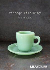 U.S.A. vintage ヴィンテージ 【Fire-king】 ファイヤーキング ジェダイ ストレート C&S カップ&ソーサー 1950-60's