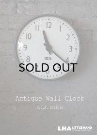U.S.A. antique IBM wall clock アメリカアンティーク 掛け時計 ヴィンテージ スクール クロック 36cm インダストリアル 1950-60's