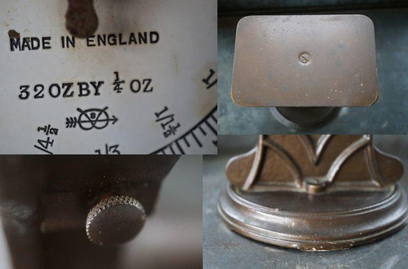 画像5: ENGLAND antique イギリスアンティーク SALTER POSTAL SCALE ポスタルスケール no.25 はかり 1920-40's