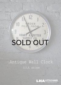【RARE】U.S.A. antique SETH THOMAS wall clock 広告入 アメリカアンティーク 掛け時計 スクール ヴィンテージ クロック アドバタイジングクロック 36cm 1940-60's