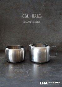ENGLAND antique OLD HALL Connaught イギリスアンティーク オールドホール シュガーボウル 8oz&ミルクジャグ 1/2pt ヴィンテージ[マット仕上げ] 1950-60's