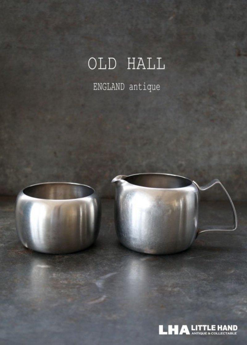 画像1: ENGLAND antique OLD HALL Connaught イギリスアンティーク オールドホール シュガーボウル 8oz&ミルクジャグ 1/2pt ヴィンテージ[マット仕上げ] 1950-60's