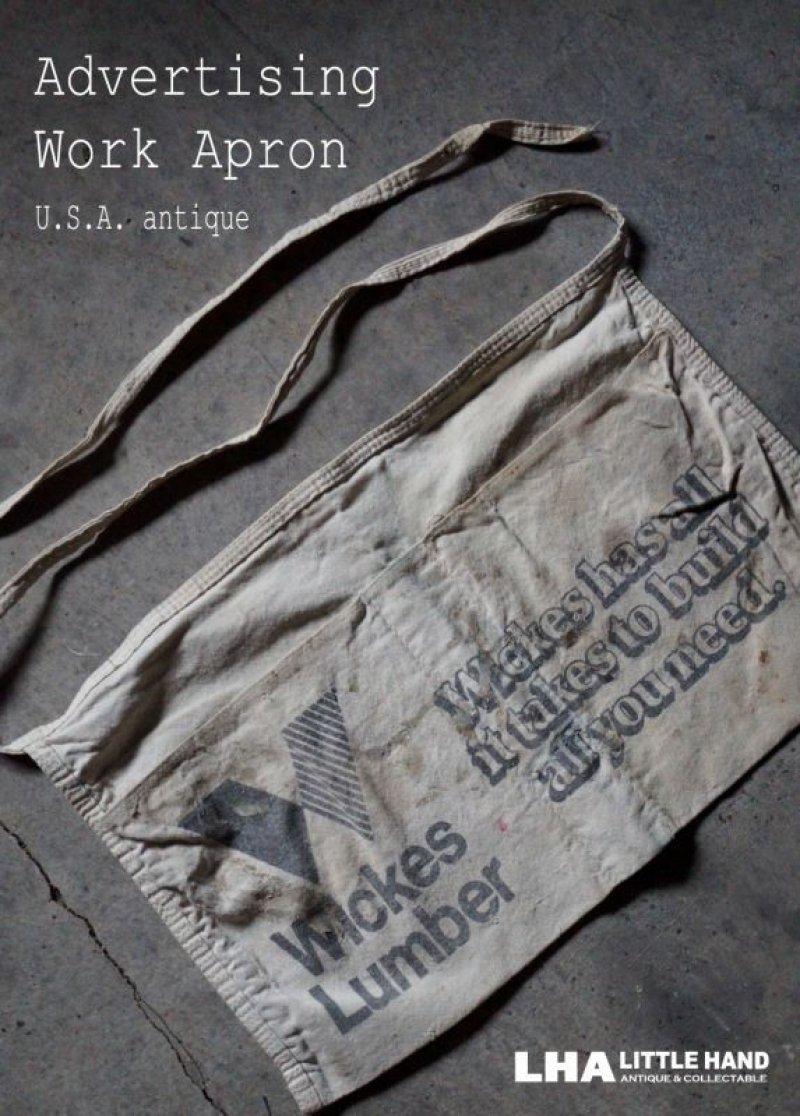 画像1: USA antique アドバタイジング 広告入 ワークエプロン・ショップエプロン 1930-50's