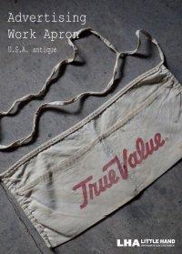 USA antique アドバタイジング 広告入 ワークエプロン・ショップエプロン 1930-50's