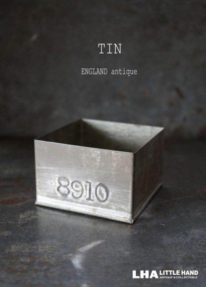 画像1: ENGLAND antique TEA TIN イギリスアンティーク ナンバー入 紅茶缶 サンプル ティン缶 ブリキ缶 1920-30's