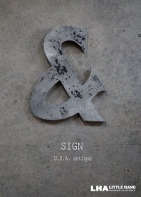 USA antique  WAGNER SIGN【&】アメリカアンティーク メタル アルファベット レターサイン(H26.5cm) 1930-60's