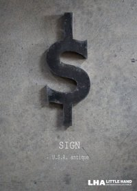 USA antique WAGNER SIGN【$】アメリカアンティーク メタル アルファベット レターサイン(H26.5cm) 1930-60's