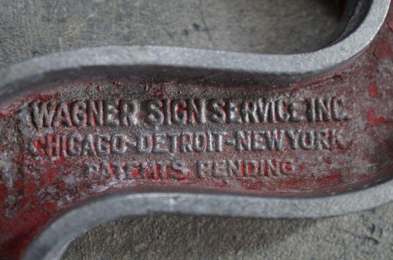 画像4: USA antique WAGNER SIGN【$】アメリカアンティーク メタル アルファベット レターサイン(H26.5cm) 1930-60's
