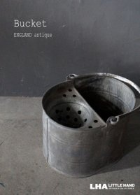 ENGLAND antique Bucket イギリスアンティーク ブリキ バケツ モップバケツ ヴィンテージ 1970's
