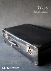ENGLAND antique Trunk イギリスアンティーク トランク・スーツケース バッグ ブラック 黒 ヴィンテージ 1950-60's